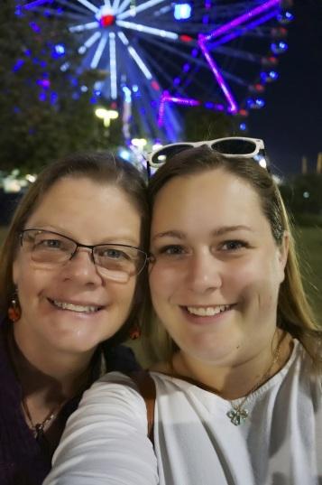 Mom (and me)