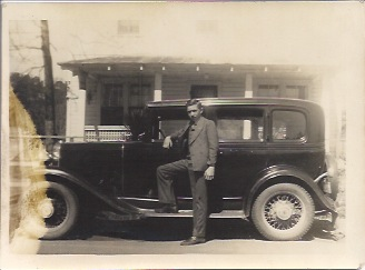 With his sister's 1931 Chevrolet