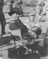 With John Wayne on set.