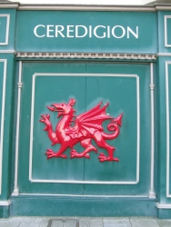 Ceredigion is the name of the county.