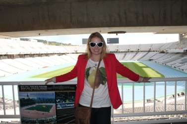 Leacy in the Olympic Stadium