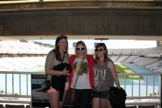 CanadiAnne, Leacy and Kiwi in the Olympic Stadium