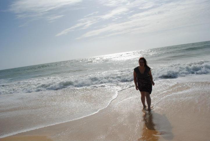 Ginger at Praia de Faro