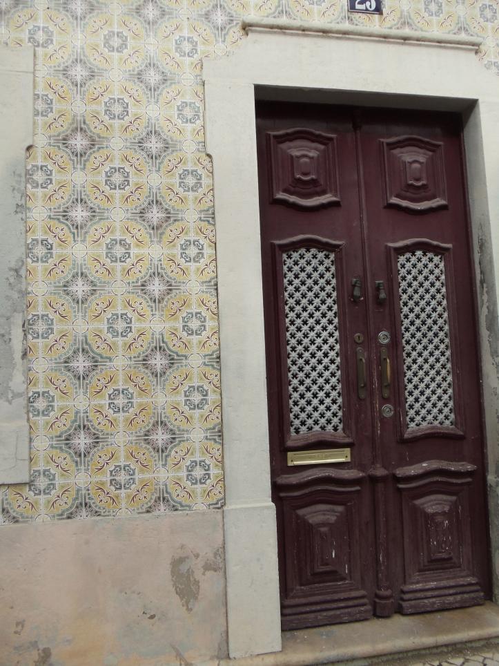 maroon doors