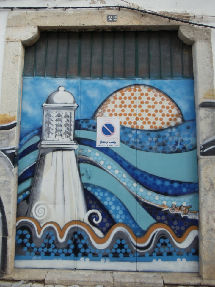lighthouse painting olhao