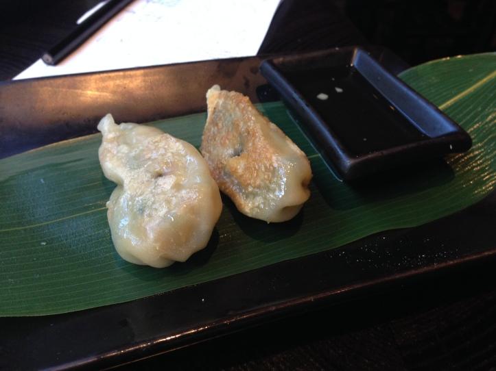 Spinach and Mushroom dumpling