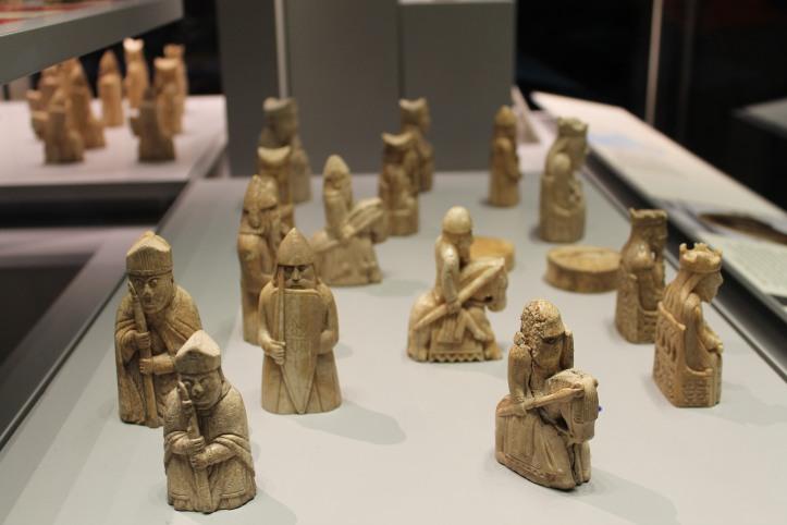 small figurines at British Museum