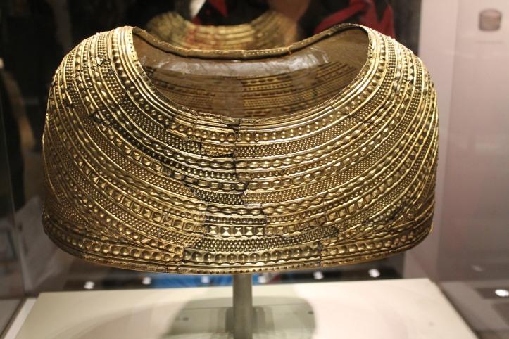 golden capelet at British Museum