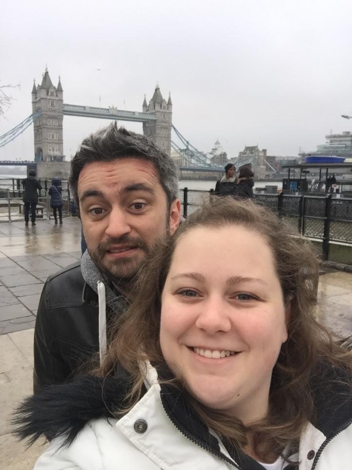 Ginger and Rambo at Tower Bridge