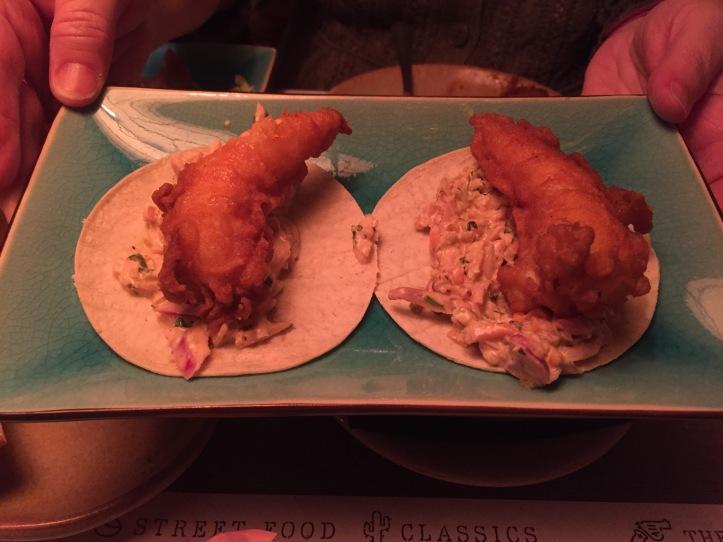 Topolabamba pasilla king prawn tacos
