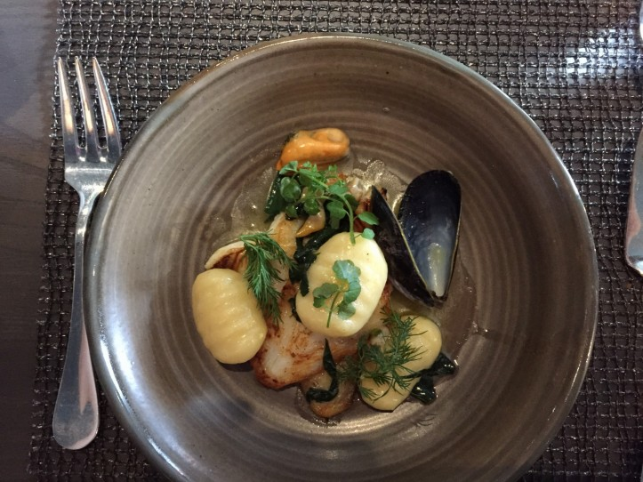 Kitchin Plaice with mussels and gnocchi