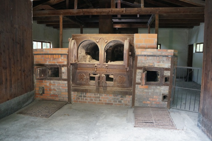 Original crematoria ovens at Dachau Concentration Camp