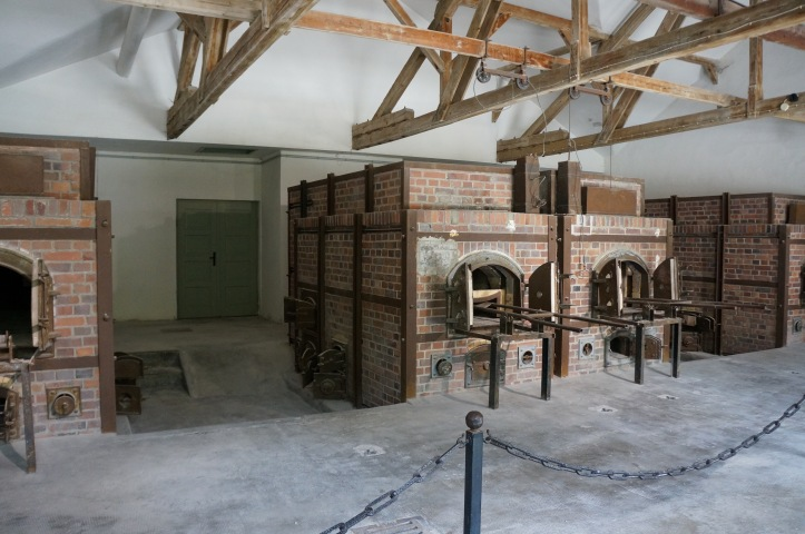 crematoria at Dachau Concentration Camp