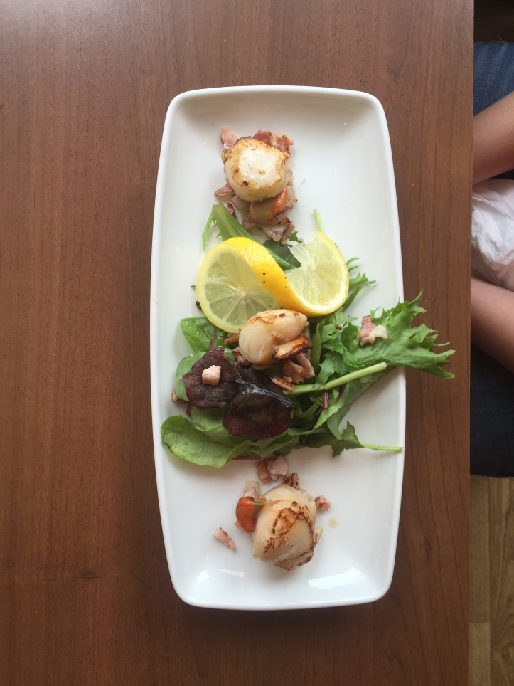 Eilean Dubh| Scallop and Bacon salad